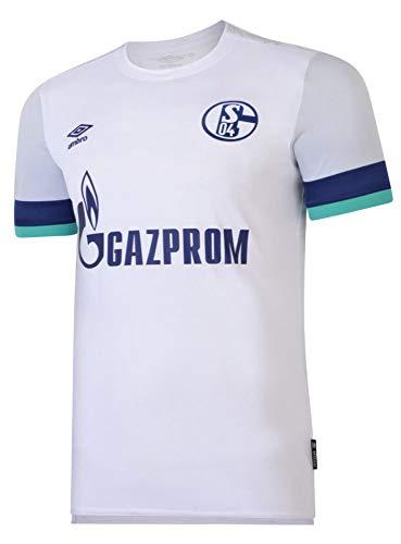 UMBRO FC Schalke 04 Trikot Away 2019/2020 Herren weiß/blau, L