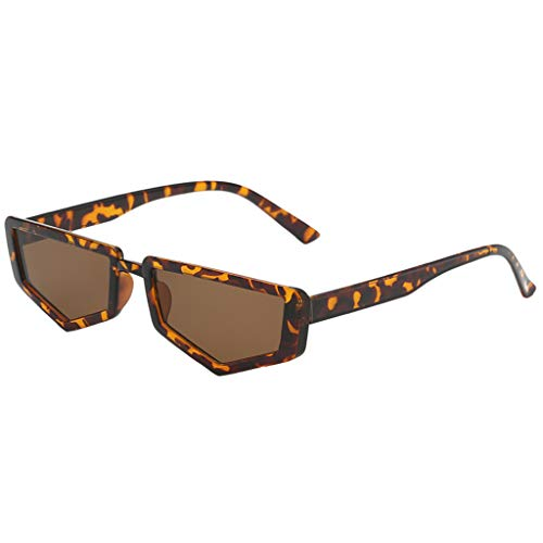 Trisee ✔ Sonnenbrille, Unisex Sonnenbrille Mode Sonnenbrille Unregelmäßige Form Sonnenbrille Steampunk Brille Vintage Brillen Hippie Brille