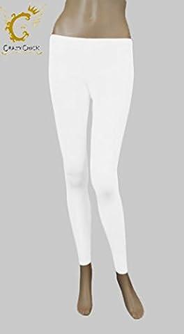 Girls Footless Lycra Neon Colours Dance Leggings 5-12 Years (White, 5-6 years)