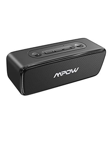 Mpow R6 Bluetooth Lautsprecher, IPX7 Wasserdichter Außen Lautsprecher mit Bass +, Tragbarer Kabelloser Lautsprecher mit 24 Std Wiedergabezeit, Kabellose Stereo-Kopplung, für Zuhause, Party, Picknick