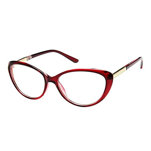 HPTAX-VB Spiegeln Anti Eye Fatigue Brille - Cat Eye Rahmen Vintage Brillen Anti Strahlung Computer Tv Unisex Clear Lens Goggle