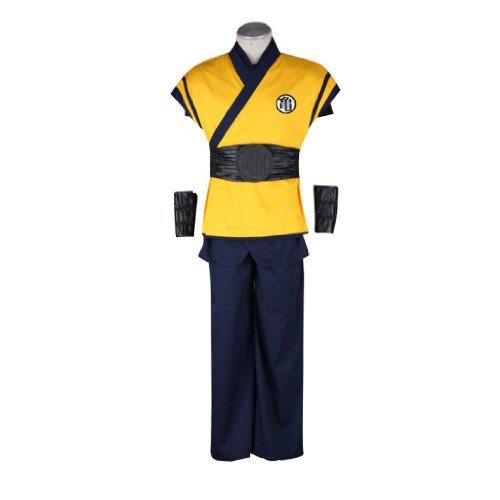 sche Anime Dragon Ball Cosplay Kostuem - Son Goku Outfit 3nd Ver Movie Kid Size Large ()