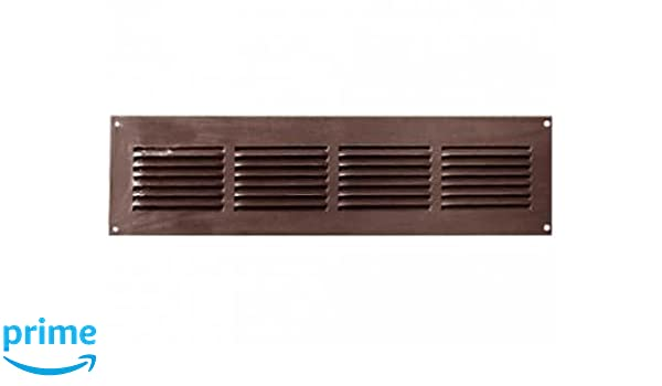 marron//noir Grille de ventilation Grille da/ération en aluminium 40x300mm