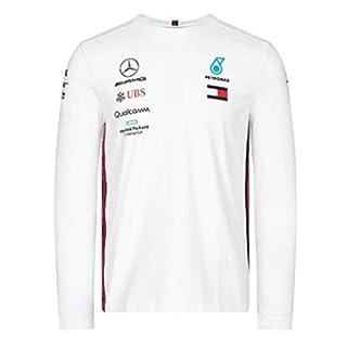 Mercedes-AMG Petronas Motorsport Men's 2019 F1TM Team Long Sleeve Driver T-shirt (S, White)