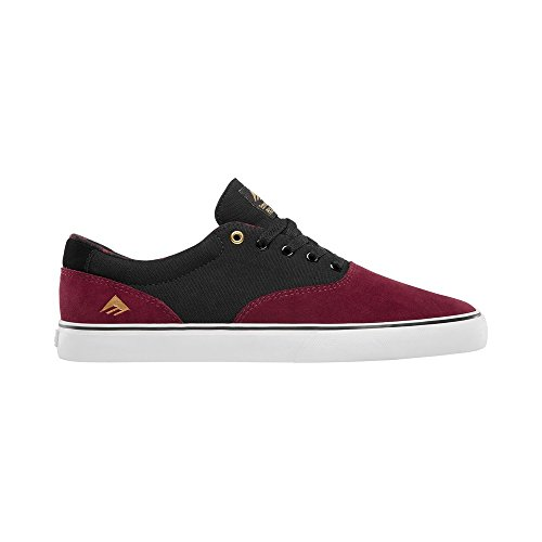Emerica Provost Slim Vulc X Toy Machine, Herren Skateboardschuhe Burgandy/gold