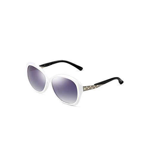 RJYJ Klassische Mode Polarisierte Sonnenbrille Mädchen, Anti-UVA Ultra Light Nettogewicht 30 Gramm (Color : White)