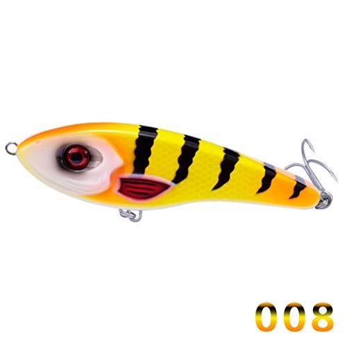 Donad Fischköder Jerkbait Musky Buster Pike Jerk VIB Köder Vmc Hooks Langsam sinkende Big Bass Pesca Leurre Jerkbaits (Big Modell-kits Rig)