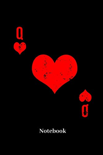 Notebook: Lined journal for playing cards, Poker, Black Jack, gambling and card game fans - paperback, diary gift for men, women and children