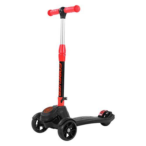Dreiradscooter Scooter Kick Scooter für Kids 3 Wheel Scooter, 4 höhenverstellbar, schlank zum Lenken mit PU Light Up Wheels für Kinder von 3 bis 15 Jahren, Unterstützung 120kg - Auf Fahrt Spielzeug Elektro-mädchen