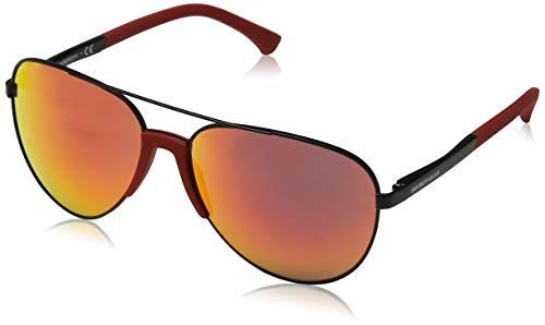Emporio Armani Herren 30016Q Sonnenbrille, Schwarz (Matte Black), 61