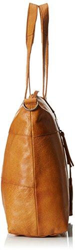 PIECES PCDEPTI LEATHER 17077713 Damen Henkeltaschen 49x33x12 cm (B x H x T) Braun (Cognac)