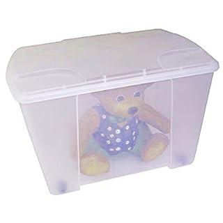 Transparente Rollbox mit Deckel, Deckelfarbe:transparent