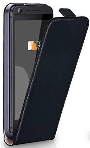 moex® Flip Case mit Magnetverschluss [R&um-Schutz] passend für HTC Desire 626G   360° Handycover aus feinem Premium Kunst-Leder, Schwarz