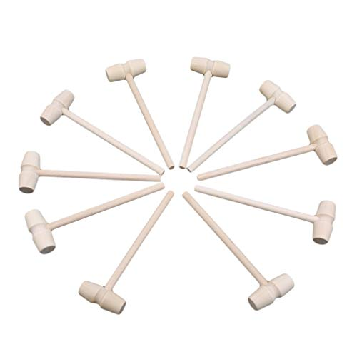 HYHY - 10 Mini mazos Madera multifuncionales Martillo