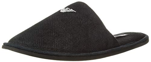 Emporio armani slipper loungewear 111377 8a577 (s (39/40) uk 6.5, black)