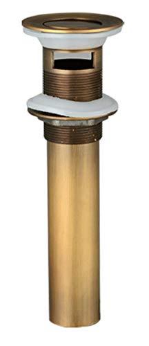 Luxus Pop Up Ventil Funktion Ablaufgarnitur Pool-Pop-Up-Wasserhahn mit Loch antik groß prellen leichtes Design alle Messing dekorative Pop-Up-Ventil Ablaufgruppe-Antiker Türsteher mit Überlauf