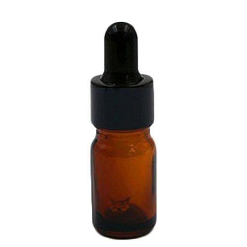 6 X Toruiwa Glasflaschen Leer Bernsteinfarbenen Glas Dropper Tropfflaschen mit Pipette für ätherische Öle Aromatherapie Eye Dropper Kosmetik Braun (5ml) - Ml 5 Ml Fläschchen