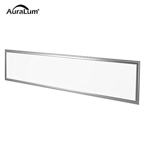AuraLum Dalle LED 120x30cm 36W Plafonnier LED avec Transformateur Blanc Chaud SMD 2835 180LED 2350LM Panneau Plafond Lampe LED Carrée