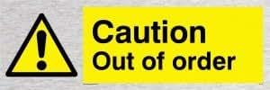 Caution Out der Bestellung - Warnschild