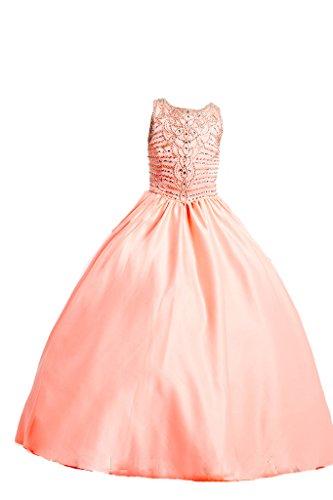 Kostüm Königliches Ballkleid - PuTao Mädchen Königliche Ball Party Kleider Kristall Lange Fest Kleider 12