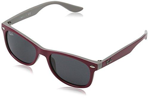 Ray Ban Unisex Sonnenbrille New Wayfarer Junior Mehrfarbig (Gestell: Pink, Gläser: Grau Klassisch 177/87)), Medium (Herstellergröße: 48)