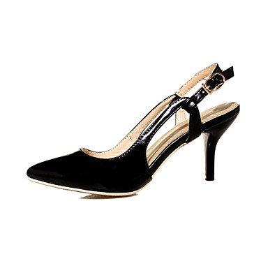 Ch & Tou De Donnaformale / Soir Et Fête Heels / Avec Ceinture / Cuir Pointu-a-imitation Stiletto-noir / Vert / Rose / Tissu D'amande Amande