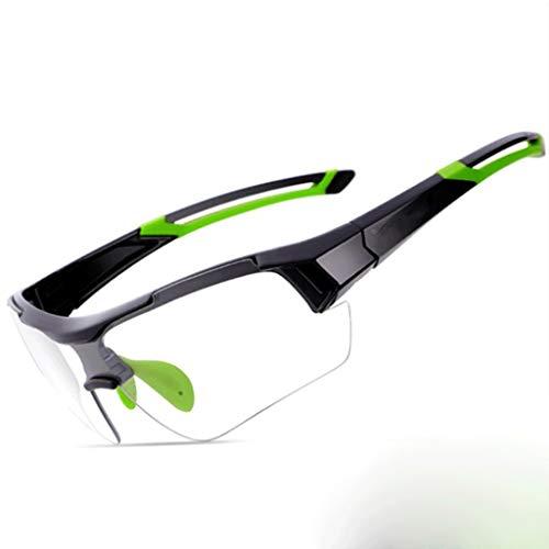 Qinmo Schutzbrille mit klaren, beschlagfreien und kratzfesten Surround-Gläsern und rutschfesten Griffen für UV-Schutz. PC explosionssicheres Objektiv konfigurieren (Farbe : Grün)