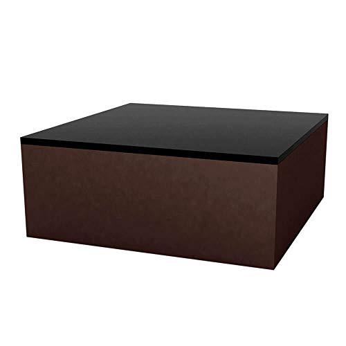 Vondom Quadrat Table Basse pour l'extérieur 80x80 h.32 cm cm Bronze
