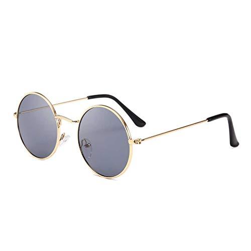 Babysbreath17 Männer Frauen Runde Metallrahmen Sonnenbrillen Kreis-Harz-Objektiv UV-Schutz Eyewears Unisex Frauen männlich Sun Glasses # 1