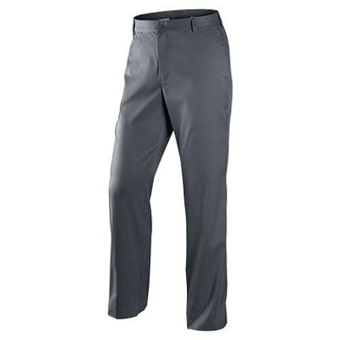 2014 Nike Dri-Fit Flat Front Golf Trousers Mens Pant Dark Grey 40x32