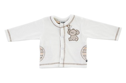 Jacky unisex Ganzjahres Babyjacke, Nickistoff 80% Baumwolle, Off White, Jacky Elephant, Gr. 74, 294100