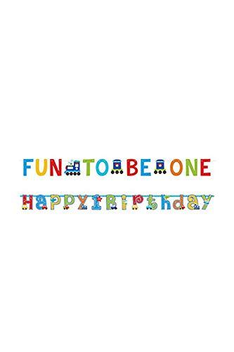 (All Aboard Ersten Geburtstag Letter Banner Kit)