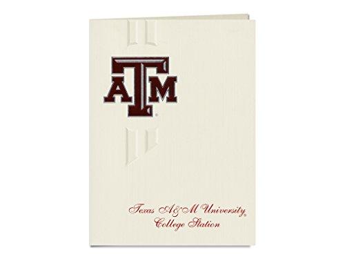 Signature Ankündigungen Texas A & M University-College Station Graduation Ankündigungen, eleganten Stil, Basic Pack 20mit Texas A und m-college Station ATM Dichtung Folie Texas A&m University Atm