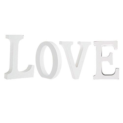 buchstaben weiß,Worsendy Handwerk Holz Holz Briefe Braut Hochzeitsparty Geburtstag Spielzeug Home Dekorationen 8*6CM (Love)