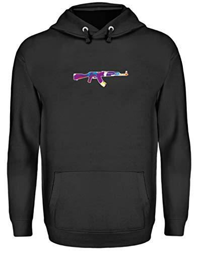 Gewehr, Schuss, Schießen, Waffe, Schusswaffe, Schießgewehr, Computerspiel, Spiele, Gamer - Unisex Kapuzenpullover Hoodie -XXL-Jet Schwarz -