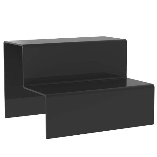 Displaypro–Marcos grandes negro transparente 2paso elevador de acrílico decoración de escaparates zócalo para venta de joyas–Entrega gratuita.
