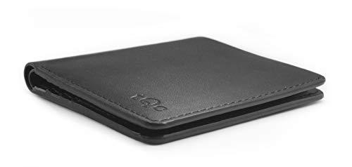 Kreditkarten-Etui mit RFID Schutz   Dünne Brieftasche   Slim Wallet   Geldbeutel   Portemonnaie für Herren   Mini Geldbörse   PU-Leder