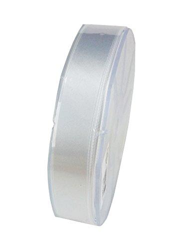 Furlanis nastro tessuto italiano doppio raso, 25 mm x 50 m, col.13, bianco
