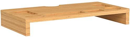 SONGMICS Bamboo Monitor Stand Ri...