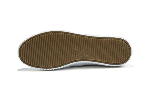 SHFANG Dame Schuhe Retro Einfache dicke untere Pu Freizeit Bewegung Studenten Schule Einkaufen Schwarz Weiß White
