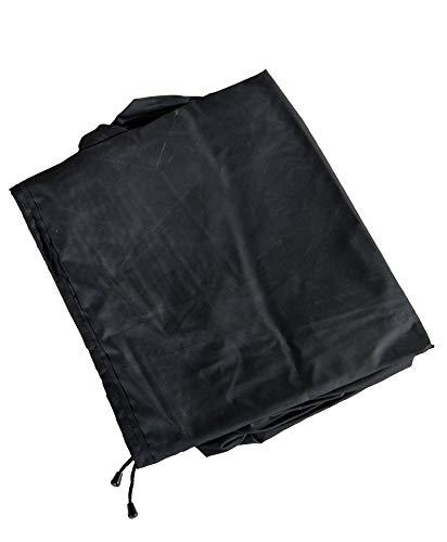 CLP Schutzhülle für Gartenmöbel I Abdeckhaube Polyrattan Gartengarnitur oder Auflagenbox/Abdeckplane Outdoor 225x190x85 cm, Schwarz