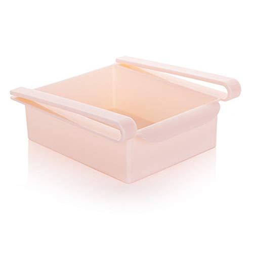 Romote 1 PC-Kühlschrank-Aufbewahrungsbehälter Küche Kühlschrank Schublade Regal-Speicher Obst Nahrungsmittelbehälter-Rack-Kühlschrank Liners (Pink) -