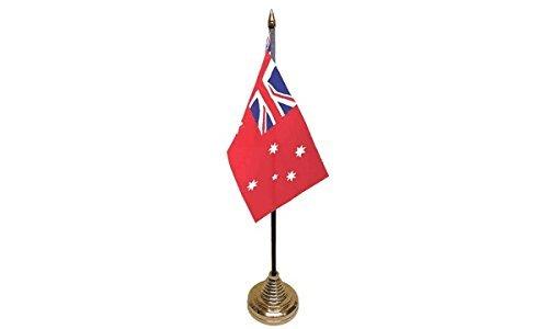 3Stück Australien Red Ensign Desktop Tisch Mittelpunkt Flagge Flaggen mit Gold Grundlagen ideal für Party Konferenzen Büro Display