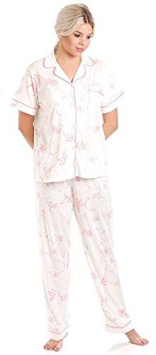 Lady Olga Short Sleeve Jersey Blumen Pyjamas Pink