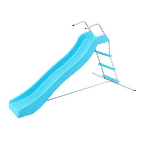 Hörby Bruk Hörby Bruck Kinderrutsche Mini (mit Leiter, Bahnlänge 177 cm, Bahnhöhe 85 cm, Farbe blau, für drinnen und draußen) 4074