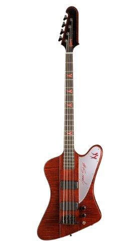 Gibson Nikki Sixx Thunderbird E-Bass, black sherry, 4-Saiter mit Koffer