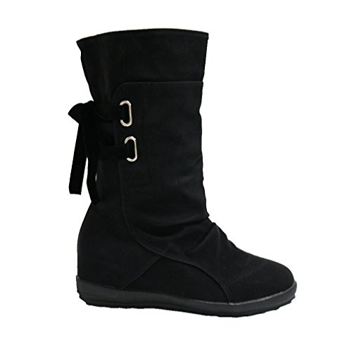 Ladies Women Boots Ankle Leather Emsmil Under Knee Casual Boots Size 7...