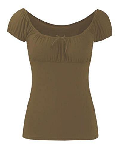 Chocolate Pickle ® Femmes Tie Knot Gypsy Plus Vêtements désinvolte Taille de Boho Moka