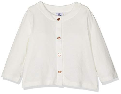 Petit Bateau Baby - Mädchen Strickjacke Cardigan_4773304, Weiß (Marshmallow 04), 68 (Herstellergröße: 6M/67cm)