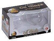 Ner Mitzvah Shabbos Kerze Glas Ölbecher - Elegante Halter für Öl für Shabbat und Hanukka - 2er Pack - langlebige Qualität